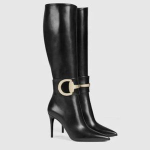 GUCCI Rooney Leather Boots 36.5
